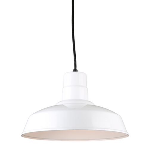 Warehouse White 14-Inch Steel Pendant