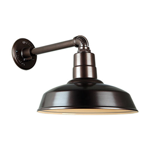 Warehouse Oil Rubbed Bronze QSNB-44 Arm 14-Inch Outdoor Wall Mount
