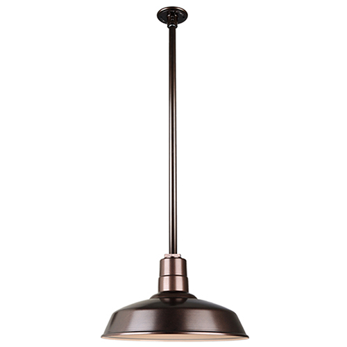 Warehouse Oil Rubbed Bronze 16-Inch Pendant with 36-Inch Downrod