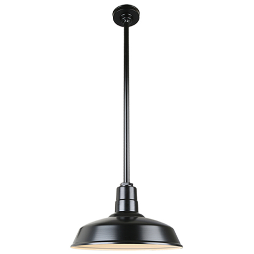 Warehouse Black 16-Inch Pendant with 36-Inch Downrod