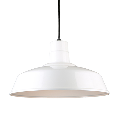 Warehouse White 18-Inch Steel Pendant
