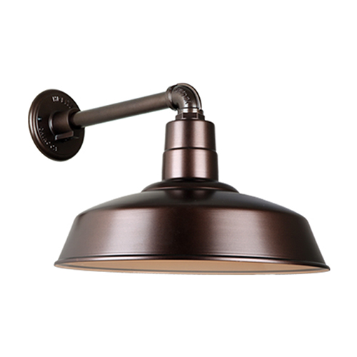 Warehouse Oil Rubbed Bronze QSNB-44 Arm 18-Inch Outdoor Wall Mount