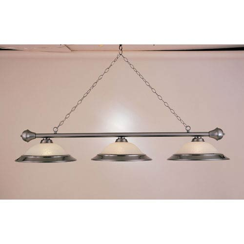 Satin Steel Three-Light Billiard Light