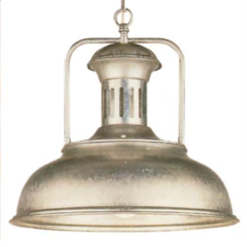 Country Galvanized Dome Pendant