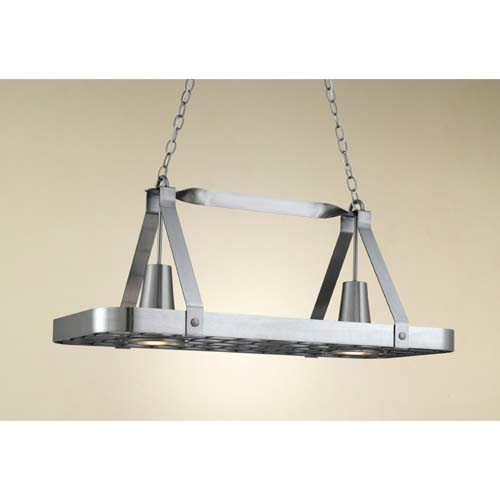 Sterling Satin Steel Lighted Pot Rack