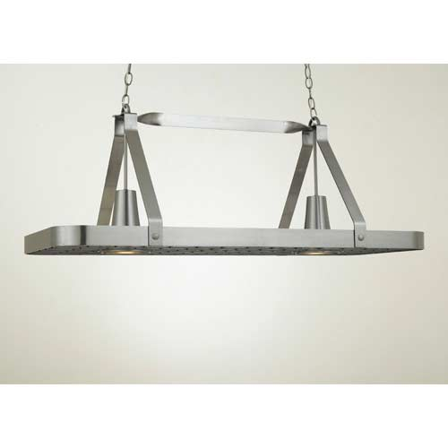 Hi Lite Sterling Satin Steel Lighted Pot Rack