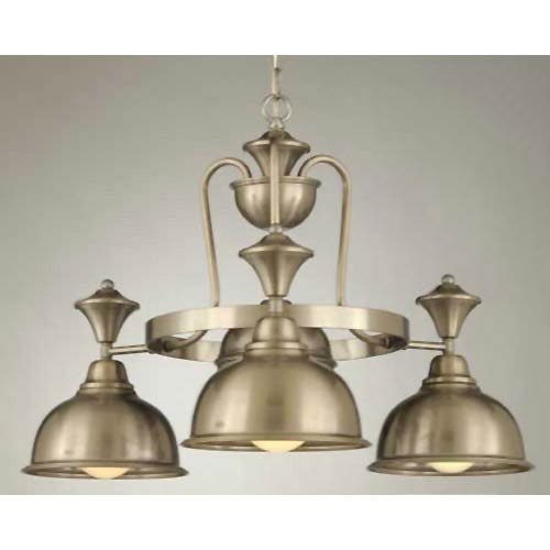 Hi-Lite Country Satin Steel Four-Light Chandelier