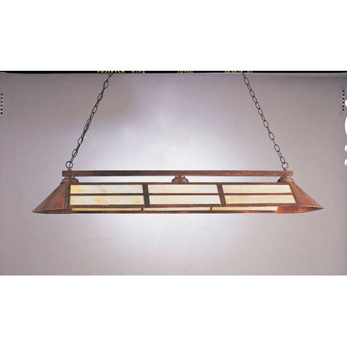 Rosewood Three-Light Billiard Light