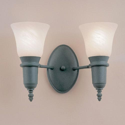 Odysee Powder Coat Patina Two-Light Wall Sconce