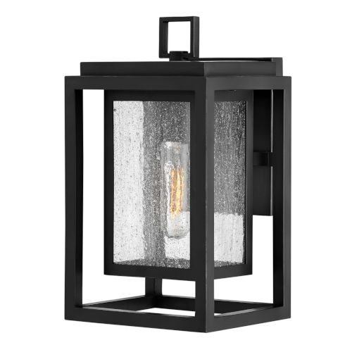 Republic Black 12-Inch One-Light Outdoor Wall Mount