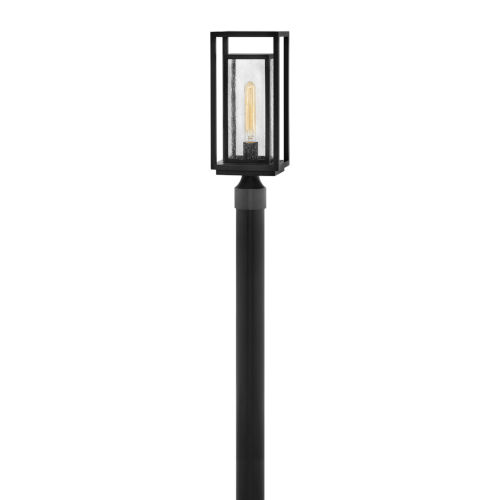 Republic Black One-Light Outdoor Post Mount