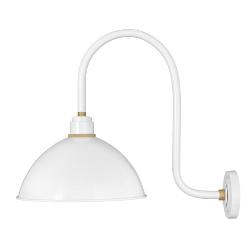 Foundry Gloss White 27-Inch One-Light Dark Sky Dome Wall Mount