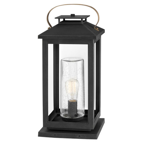 Atwater Black One-Light Outdoor Pier Mount