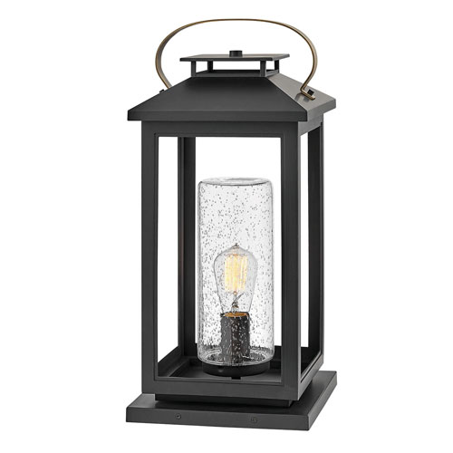Atwater Black LED Outdoor Pier Mount