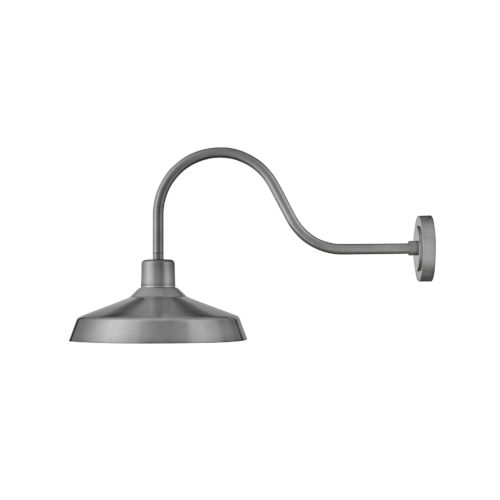 Forge Antique Brushed Aluminum 33-Inch One-Light Outdoor Wall Mount