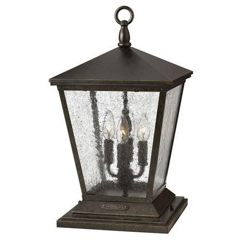 Trellis Regency Bronze Four-Light LED Outdoor Pier Mount