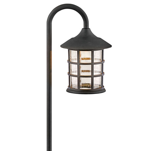 Freeport Textured Black LED Path Light