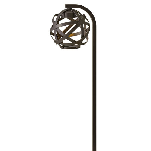 Carson Bronze LED Path Light with Etched Lens