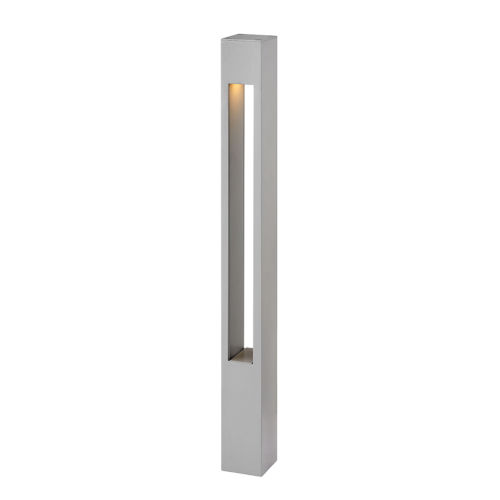 Atlantis Titanium One-Light Bollard Light with Etched Lens