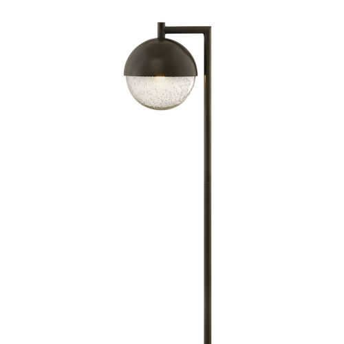 Revolve Bronze LED Path Light with Clear Seedy Glass