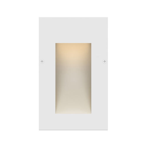 Taper Satin White 3-Inch 2700K LED Deck Light with Etched Glass