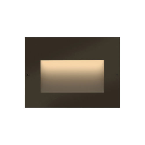 Taper Bronze LED Deck Light with Etched Glass