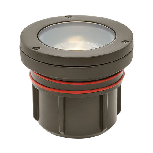 Bronze 5-Inch 2700K LED Flat Top Well Accent Spot Light with Clear Lens