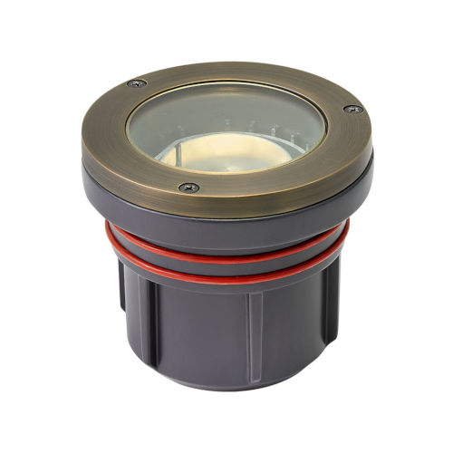 Matte Bronze 5-Inch 3000K LED Flat Top Well Accent Spot Light with Clear Lens