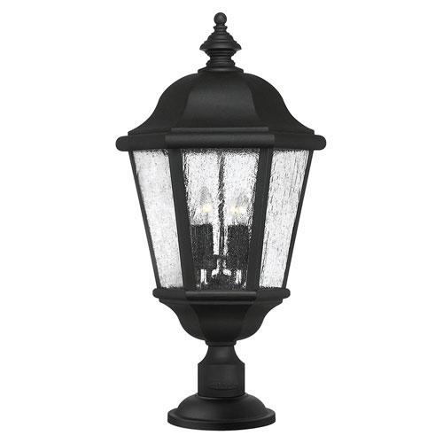 Edgewater Black Four-Light LED Outdoor Post Mount