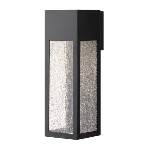 Rook Satin Black 15-Inch LED Outdoor Wall Mount