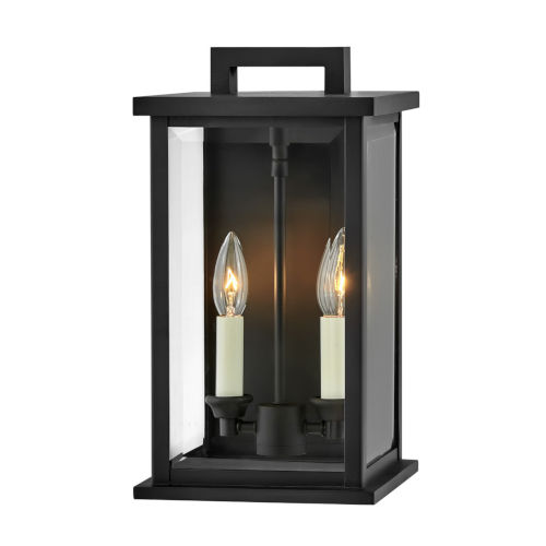 Weymouth Black 14-Inch Two-Light Outdoor Wall Mount