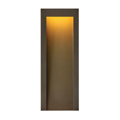 Taper Textured Oil Rubbed Bronze Nine-Inch Led Outdoor Wall Mount