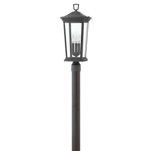 Bromley Museum Black Three-Light LED Post Mount