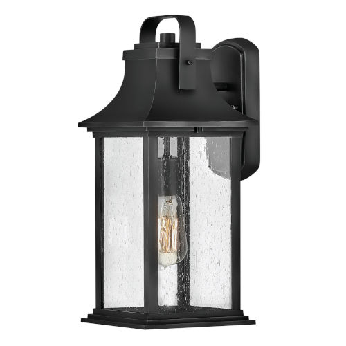 Grant Textured Black Seven-Inch One-Light Outdoor Wall Mount