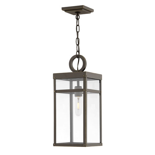 Porter Oil Rubbed Bronze Eight-Inch One-Light Outdoor Pendant