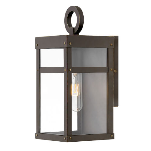 Porter Oil Rubbed Bronze One-Light 13-Inch Outdoor Wall Mount