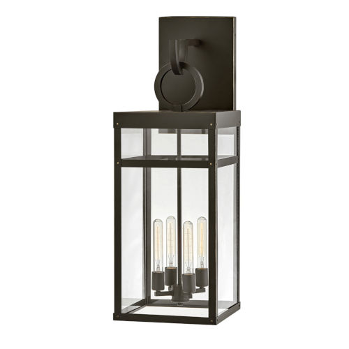 Porter Oil Rubbed Bronze Three-Light Outdoor Wall Mount