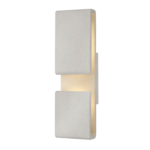 Contour Cement Gray Six-Inch LED Wall Mount