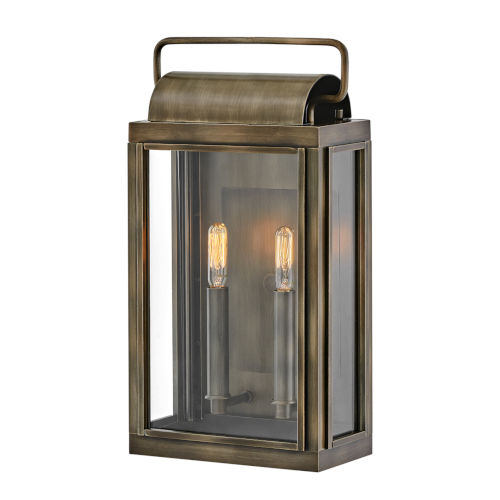 Sag Harbor Burnished Bronze Two-Light Outdoor Wall Mount With Clear Glass