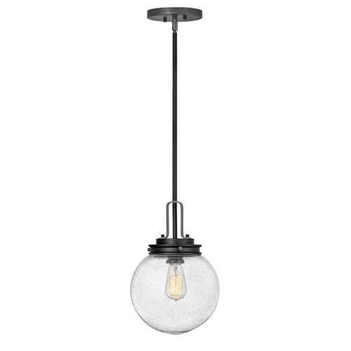 Jameson Black One-Light Outdoor Pendant