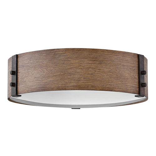 Sawyer Sequoia Three-Light LED Outdoor Flush Mount