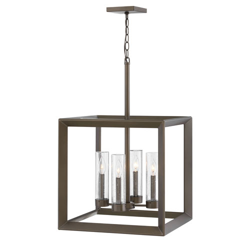 Hinkley Rhodes Warm Bronze Four-Light LED Outdoor Pendant