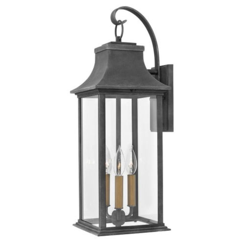 Adair Aged Zinc Nine-Inch Two-Light Led Outdoor Wall Mount