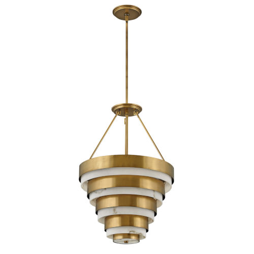 Echelon Heritage Brass Eight-Light Chandelier