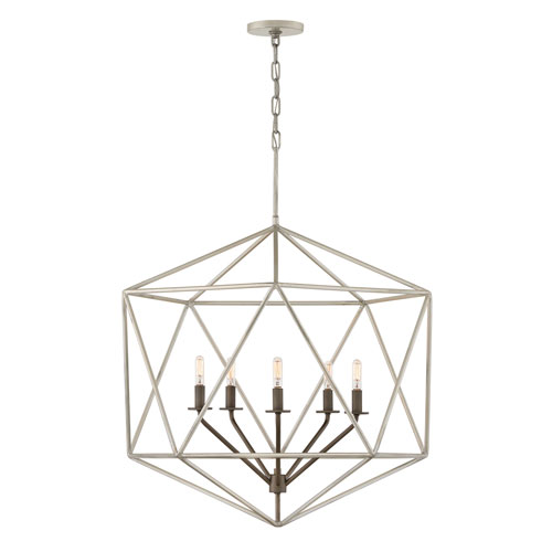 Astrid Metallic Matte Bronze Five-Light Chandelier