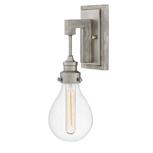 Denton Pewter One-Light Wall Sconce
