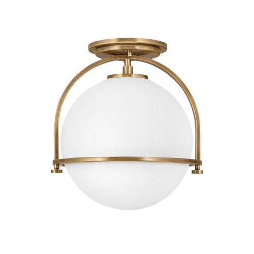 Somerset Heritage Brass One-Light Semi-Flush Mount