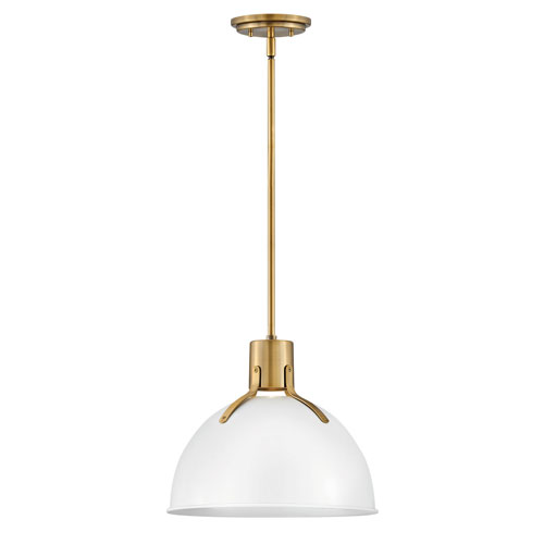 Argo Polished White 14-Inch One-Light LED Pendant