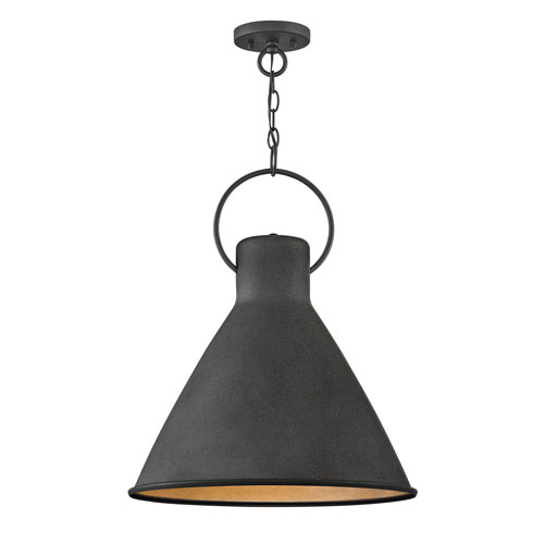 Winnie Aged Zinc 18-Inch One-Light Pendant