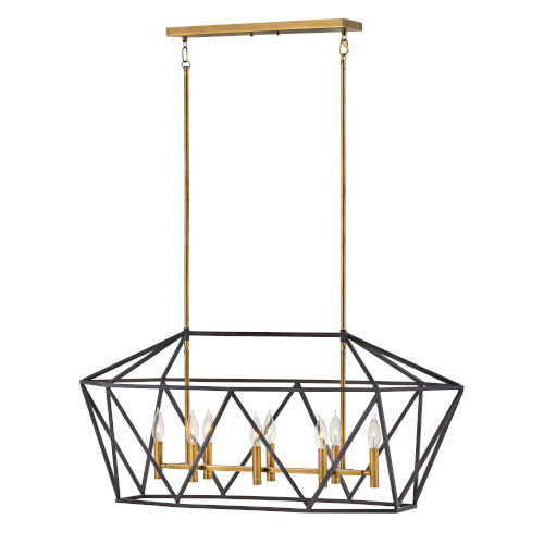 Theory Aged Zinc Eight-Light Chandelier